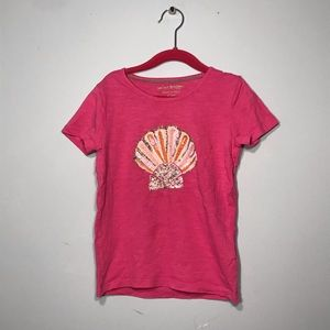 Girls pink seashell tee!